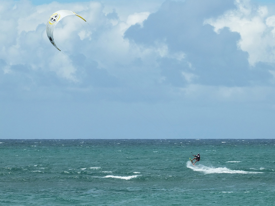 Maui Kite boarding lessons student Jack Murphy, Complete Kite Boarding